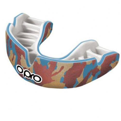 Opro Power-Fit Camo Mouthguard - Blue/Orange/Gold